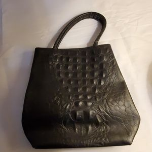 Paola Del Lungo black leather bag